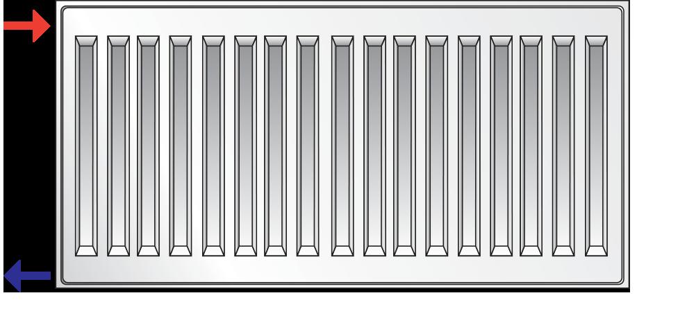 боковое подключение